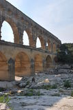 Pont du gard. In south of france Royalty Free Stock Image