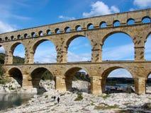 Pont du Gard in Provence royalty free stock photos