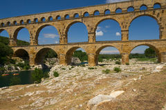 The Pont du Gard in Provence (France) Royalty Free Stock Photos