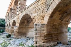 Pont du Gard Provence. The Pont du Gard roman bridge with arches in Provence, France Royalty Free Stock Photography