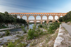Pont du Gard Provence. The Pont du Gard roman bridge with arches in Provence, France Stock Photography