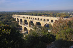 Pont du Gard Roman Aquaduct. Near Avignon in France Royalty Free Stock Photos