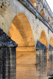 Pont du Gard, a Roman aqueduct, France (close) Stock Image