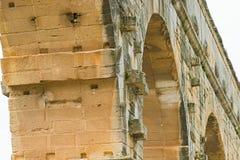Pont du Gard Roman aqueduct near Avignon France Royalty Free Stock Image