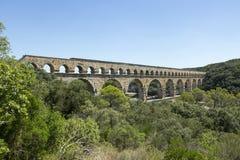 Pont-du-Gard romersk aquaduct, Frankrike royaltyfri foto