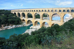 The Pont du Gard Stock Image