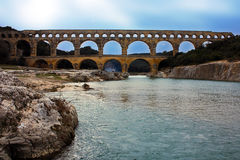 The Pont du Gard Royalty Free Stock Images