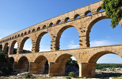 Pont du Gard in South France Stock Photography