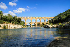 Pont du Gard, south of France Stock Photo