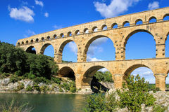 Pont du Gard, south of France Stock Photography