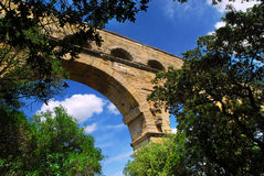 Pont du Gard in southern France Royalty Free Stock Photos