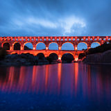 The Pont du Gard, southern France, Europe. Royalty Free Stock Image