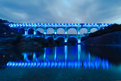 The Pont du Gard, southern France, Europe. Stock Images