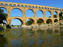 Pont du Gard, Vers-Pont-du-Gard ( France ) Royalty Free Stock Photos