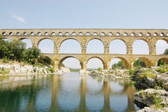 Pont du gard view Royalty Free Stock Photos