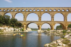 Pont du gard view Royalty Free Stock Photography