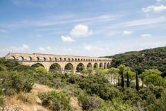 Pont DU Gard, Weg Du Pont DU Gard, 30210 Vers-Pont-DU-Gard, Frankreich stockfoto