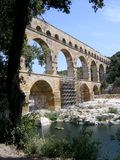 Pont du Guard. It´s amazing view on Ponte du Guard in Provence in France, 2005 Royalty Free Stock Images