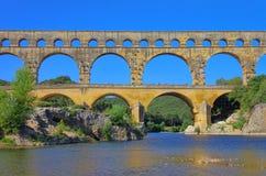 Pont du il Gard Fotografie Stock Libere da Diritti