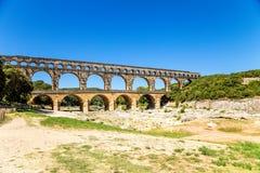 Pont du il Gard, Francia Aquedotto antico, allegato alla lista dell'Unesco Immagine Stock Libera da Diritti