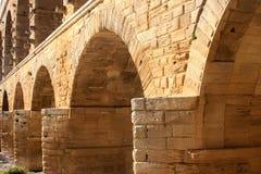 Pont du il Gard, un aquedotto romano, Francia (primo piano) fotografie stock libere da diritti
