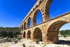 Pont du il Gard, Nimes, Provenza, Francia Fotografia Stock Libera da Diritti