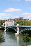 Pont du l'Univercite. Rhone. Lyon. France Stock Photography