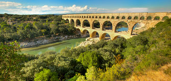 Pont du le Gard, en France Images stock
