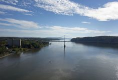Pont du Mi-Hudson au-dessus du Hudson Photos stock