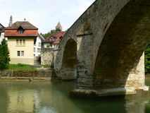 Pont du Milieu, Fribourg (Suisse) Royalty Free Stock Photos