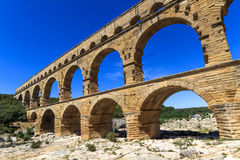 Pont du Гар, Nimes, Провансаль, франция Стоковые Изображения