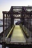 Pont du nord obsolète d'avenue Images libres de droits