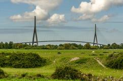 Pont du Normandie. Bridge to Normandie in France Royalty Free Stock Photo