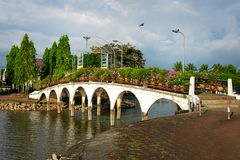 Pont du parc, Chanthaburi images stock