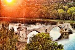 Pont du ` s d'Avignon, France images libres de droits