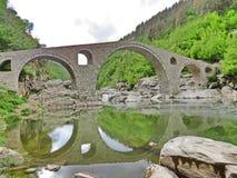 Pont du ` s de diable, rivière d'Arda, Bulgarie Photographie stock