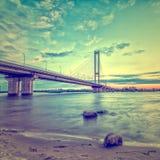 Pont du sud à Kiev. Image libre de droits