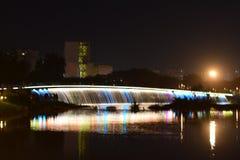 Pont en étoile le soir Image stock