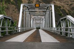 Pont en acier de l'Idaho image libre de droits