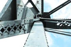 Pont en acier en train Image stock