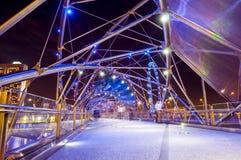 Pont en ADN d'hélice à Singapour Photos stock