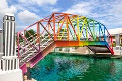 Pont en arc-en-ciel en Thaïlande Image stock