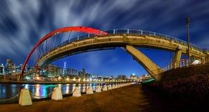 Pont en arc-en-ciel à Taïpeh Photo libre de droits