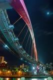 Pont en arc-en-ciel à Taïpeh Images libres de droits