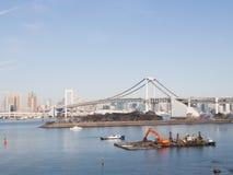 Pont en arc-en-ciel de Tokyo, Japon photo libre de droits
