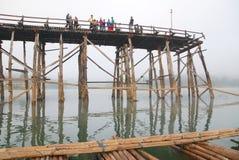 Pont en bambou Images stock