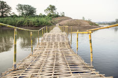 Pont en bambou Photographie stock