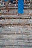 Pont en bambou dans Sangklaburi, buri de Kanchan Images libres de droits