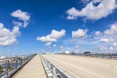 Pont en bascule au-dessus de rivière de Stranahan dans le Fort Lauderdale Image stock
