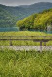 Pont en bois Photo stock